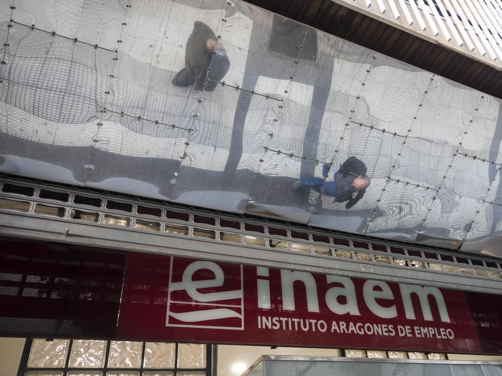 Una de las oficinas del Inaem en Zaragoza.