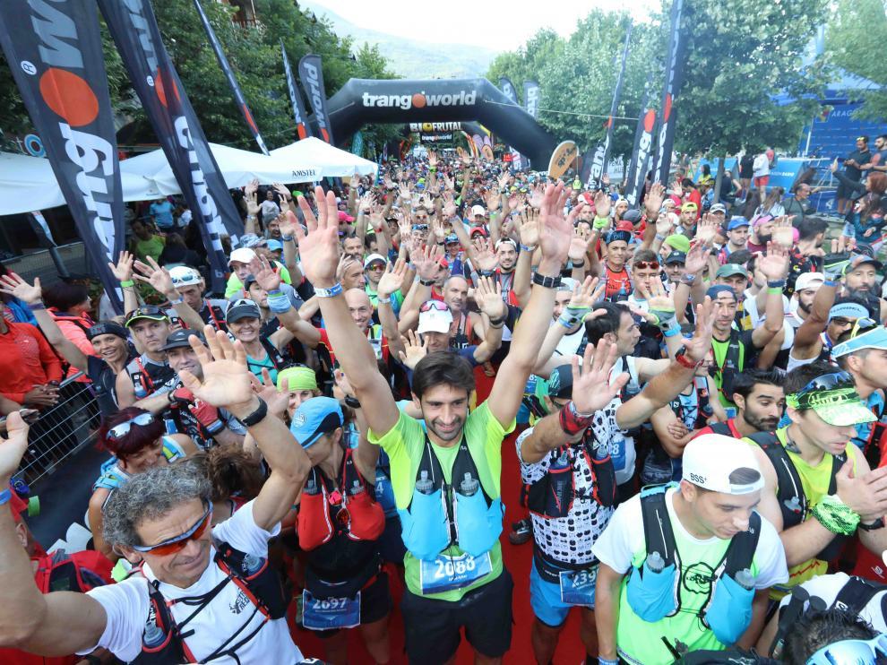 Imagen de archivo de la salida del Maratón de las Tucas en el Gran Trail Aneto Posets.
