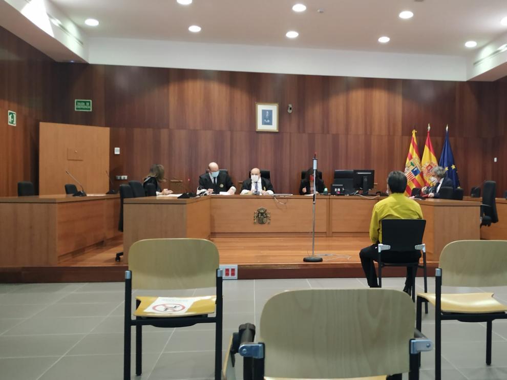 El acusado, durante el juicio celebrado este jueves en la Audiencia de Zaragoza.