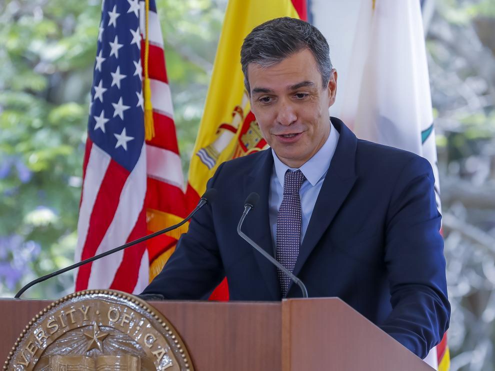 Sánchez, en un acto este jueves en la Universidad de California Los Ángeles (UCLA).