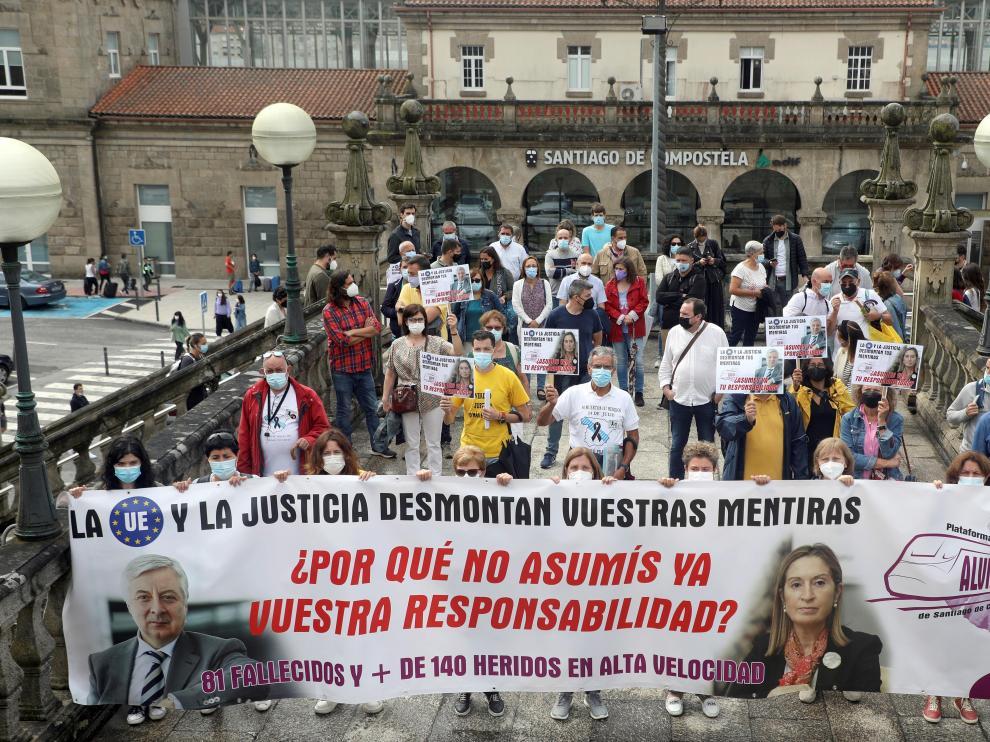Manifestación en el 8º aniversario del accidente del tren Alvia