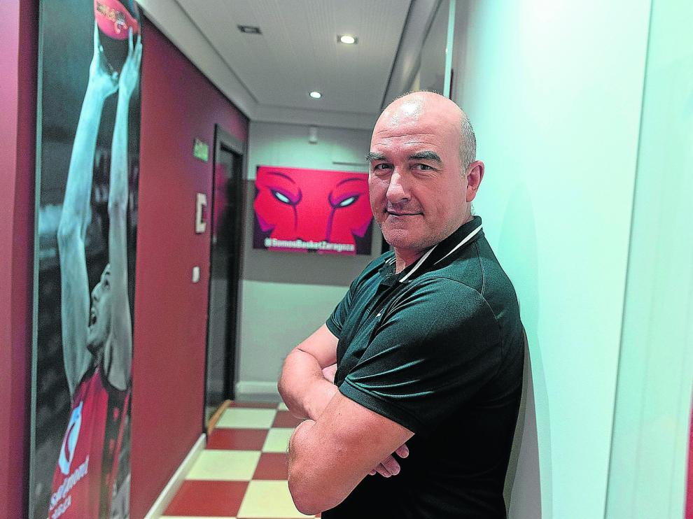 Ponsarnau, en el pasillo de la sede del club