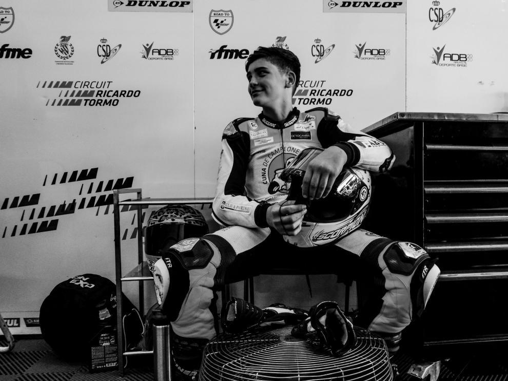 Muere el joven piloto de 14 años Hugo Millán, en un accidente en Motorland.