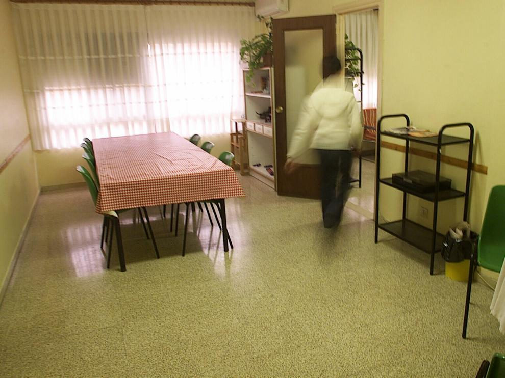 Uno de los pisos de acogida para mujeres que han sufrido violencia de género que tiene el Ayuntamiento de Zaragoza.