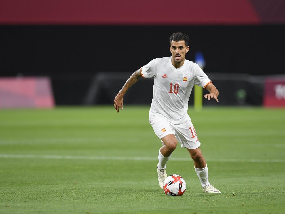 Dani Ceballos el pasado 22 de julio durante el partido contra Egipto en Tokio.