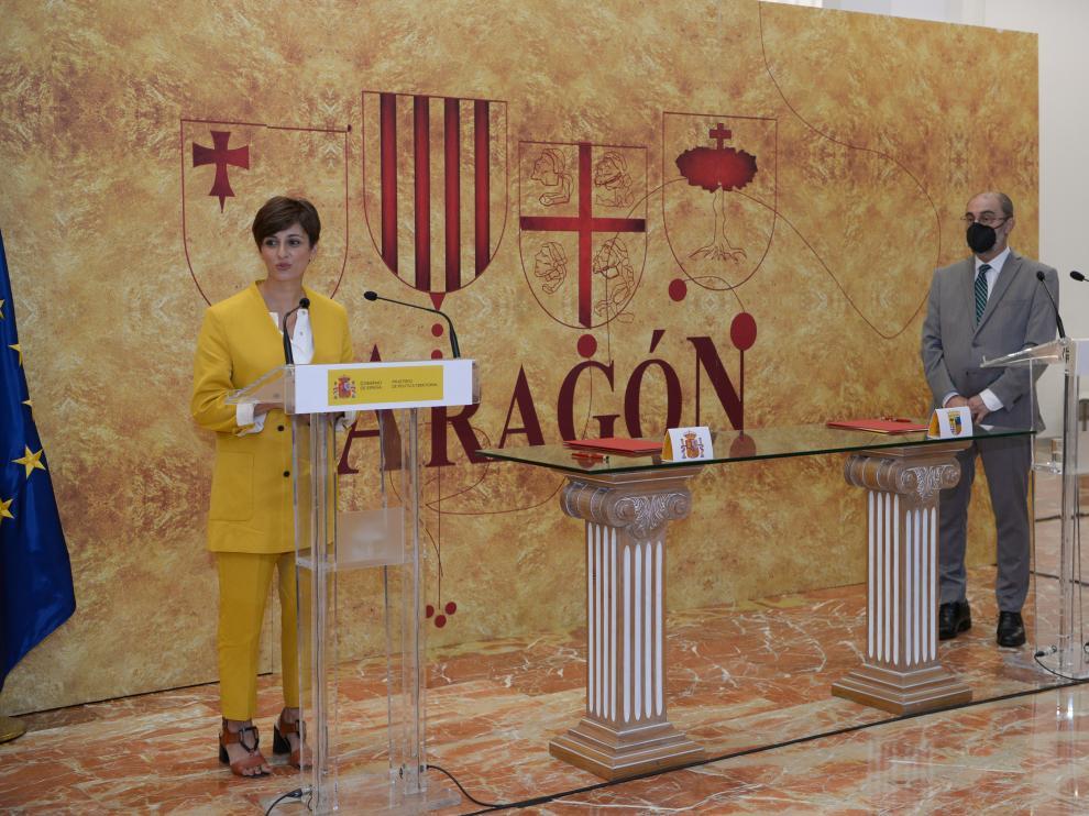 Visita de la ministra de Política Territorial a Teruel