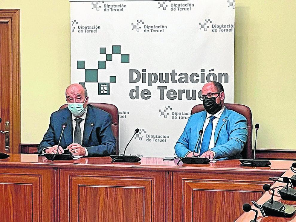 El presidente de la DPT, Manuel Rando –izquierda–, junto al vicepresidente, Alberto Izquierdo.