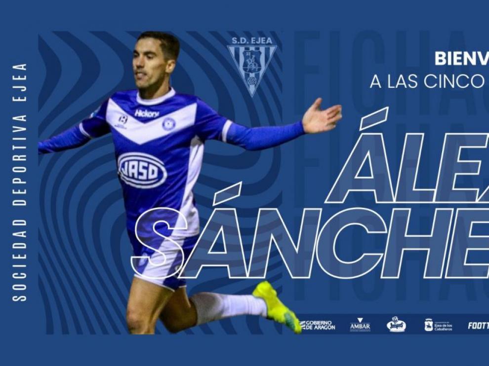 Álex Sánchez, nuevo jugador del Ejea.