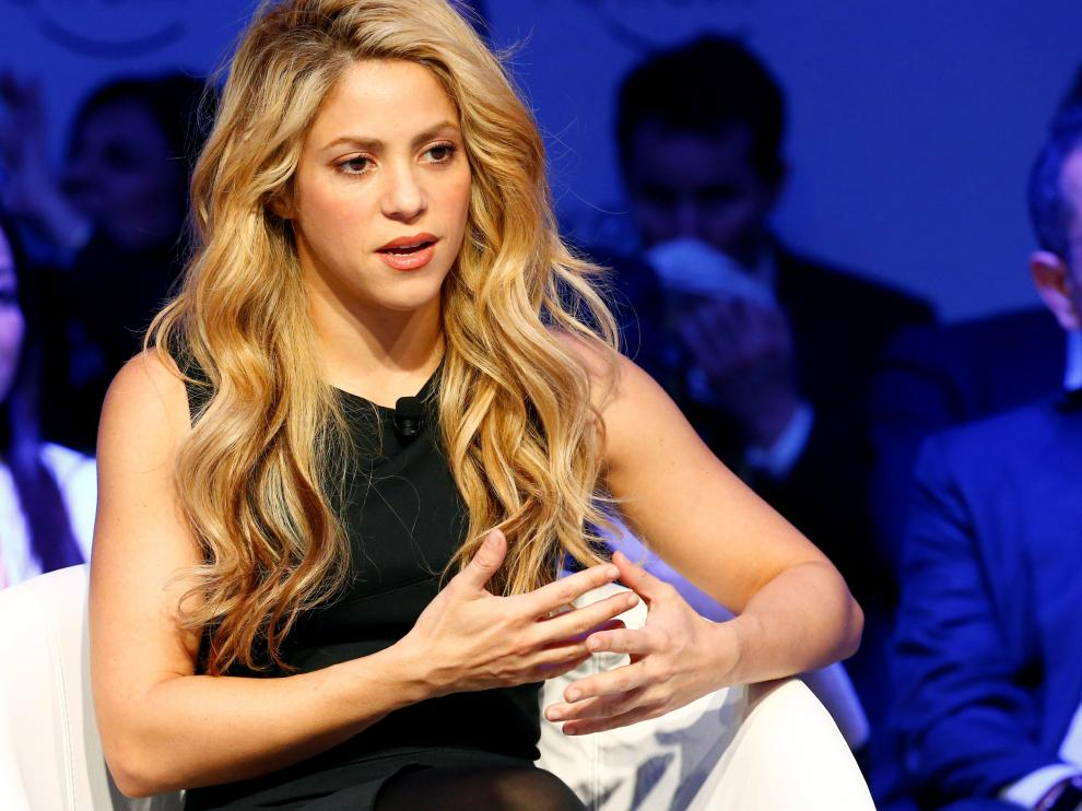 FILE PHOTO: Singer and UNICEF Ambassador Shakira attends the annual meeting of the WEF in Davos