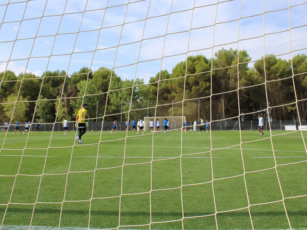 La SD Huesca entrenó el sábado en el Pirámide por primera vez desde la concentración de Benasque.