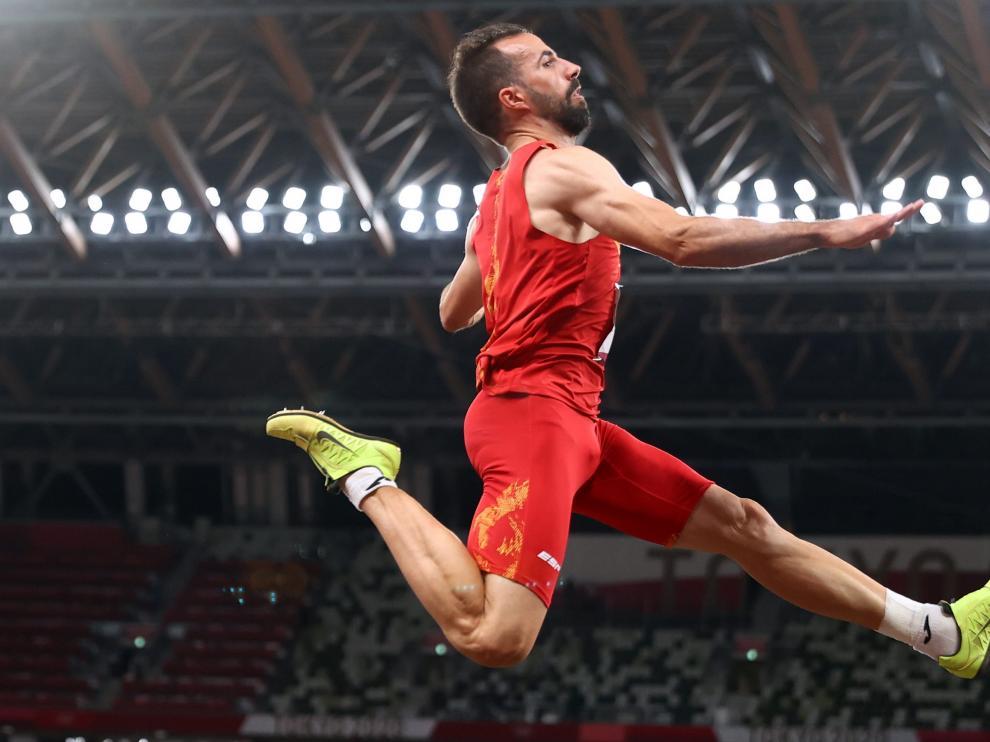 Salto de Eusebio Cáceres, en los Juegos Olímpicos de Tokio 2020.