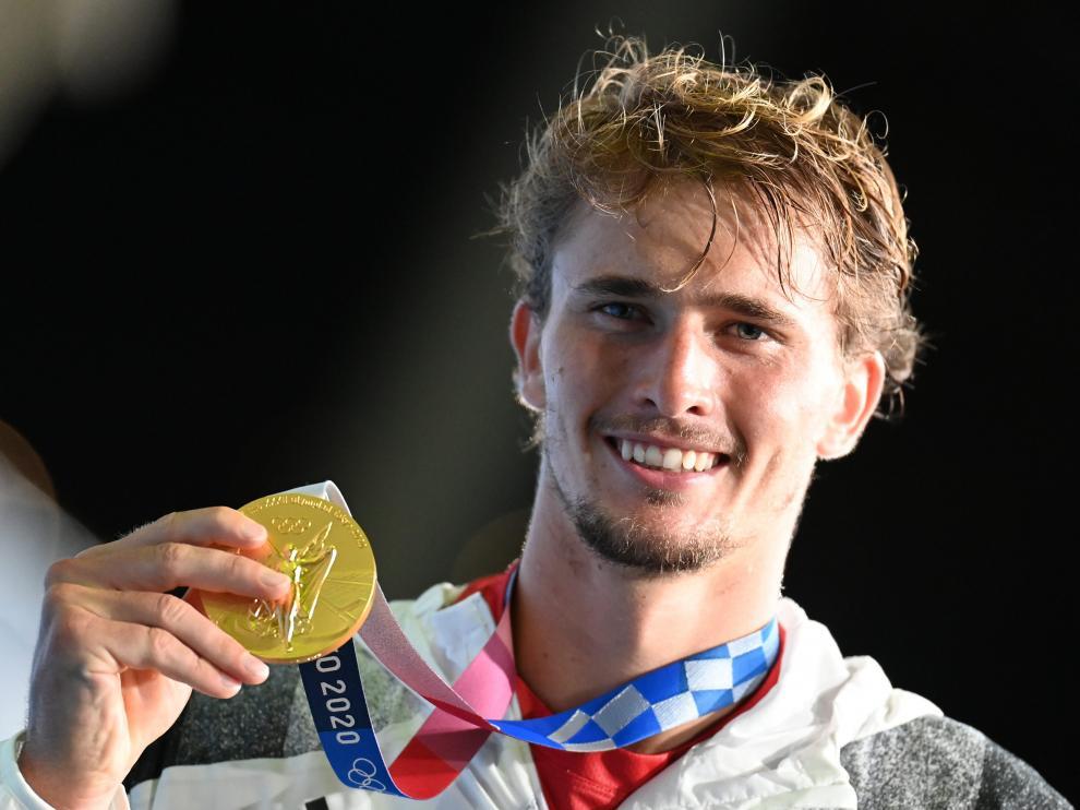 Alexander Zverev, con su medalla de oro