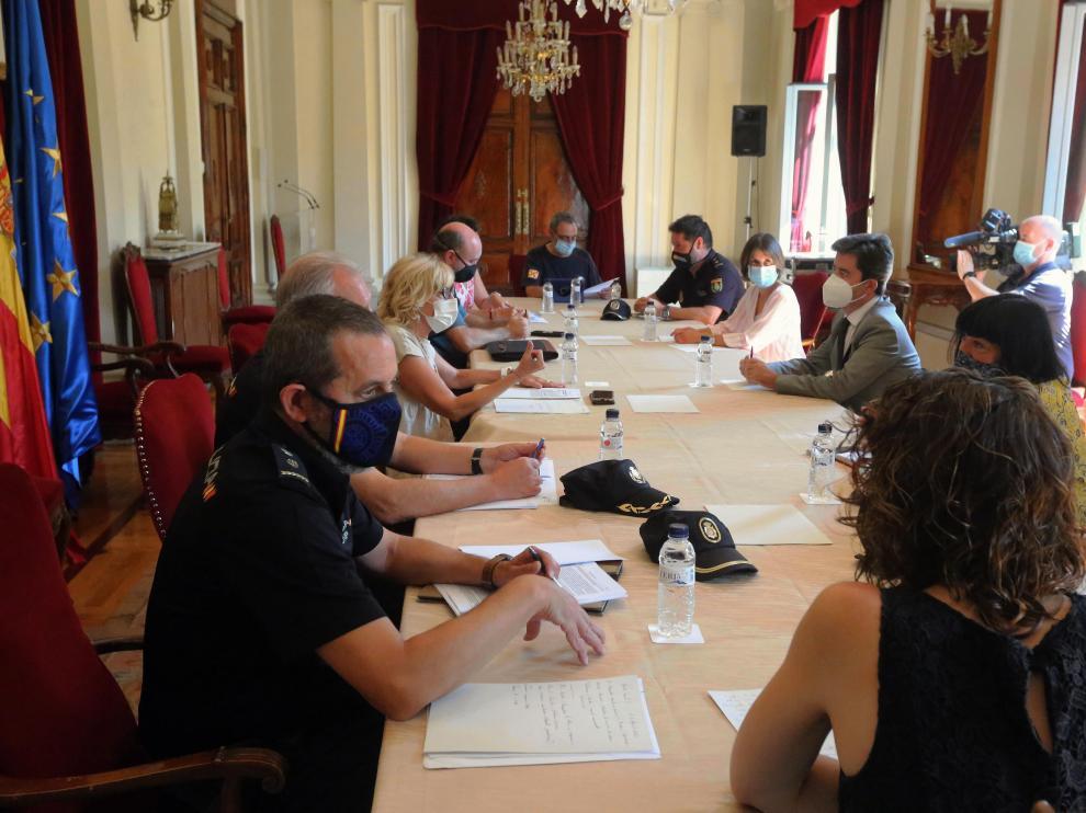 Reunión este lunes por la mañana de la Junta de Seguridad de Huesca.