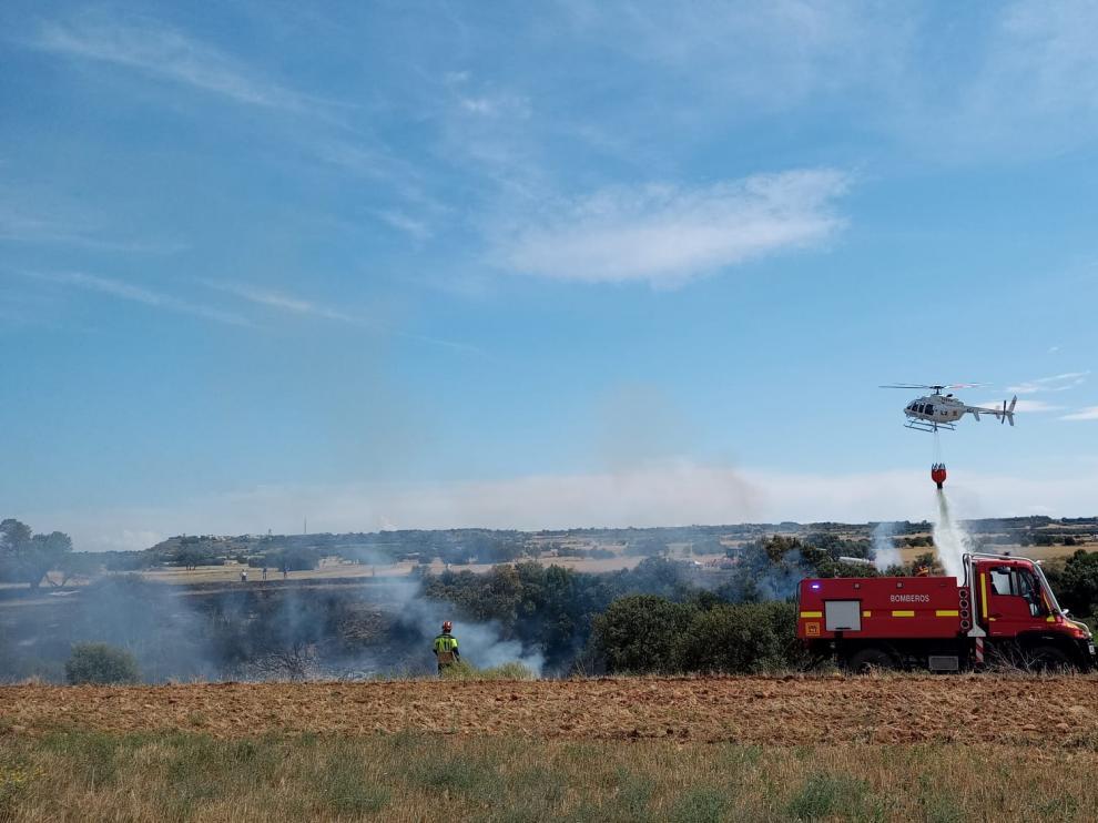 Un incendio en Berbegal quema cinco hectáreas de monte