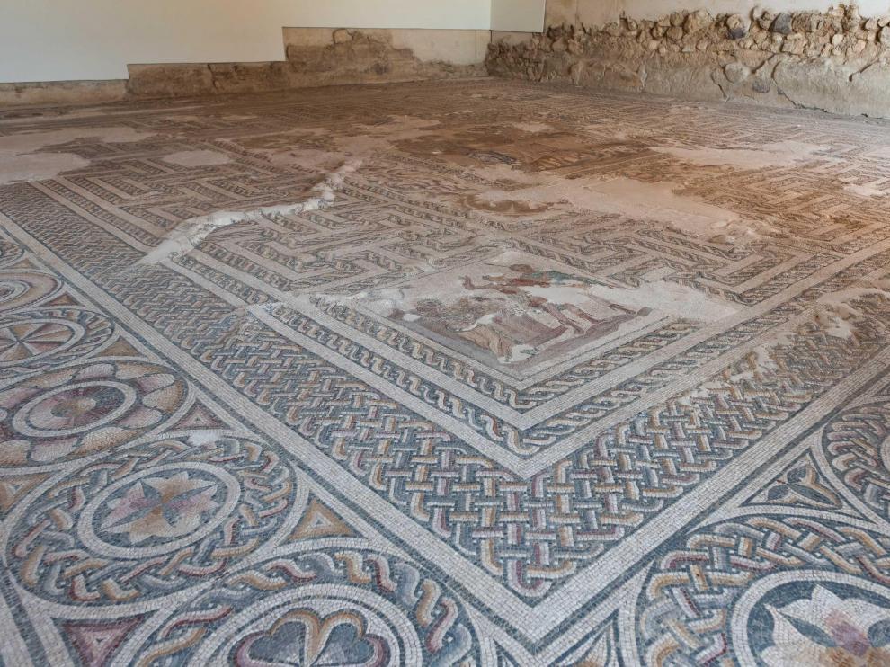 Foto de la villa romana de La Malena en Azuara