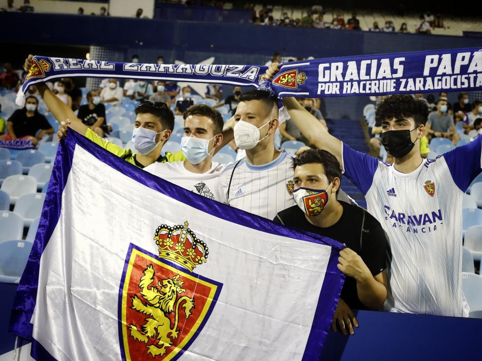 Foto del partido Real Zaragoza-Ibiza, primera jornada de Segunda División, en La Romareda
