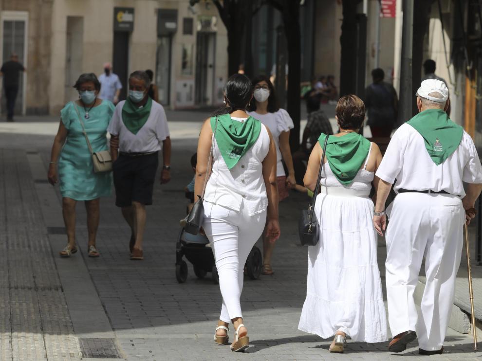 Los oscenses han mantenido el espíritu laurentino hasta el último día de las 'No Fiestas de San Lorenzo', e 15 de agosto.