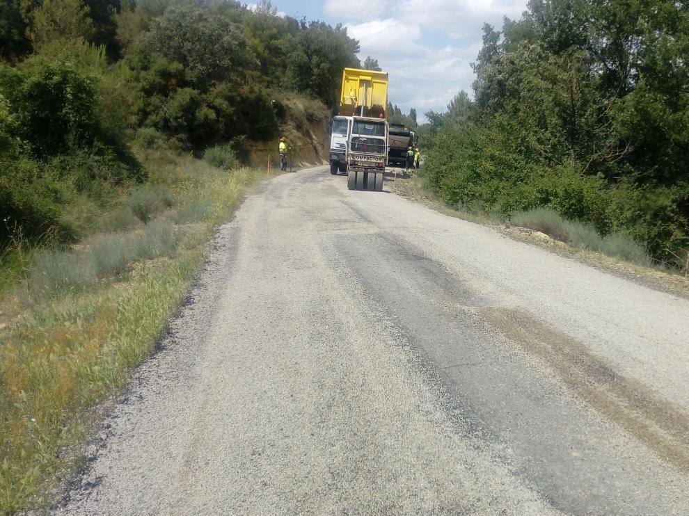 Obras de mejora en el tramo comprendido entre las localidades de Luna, El Frago y Biel.