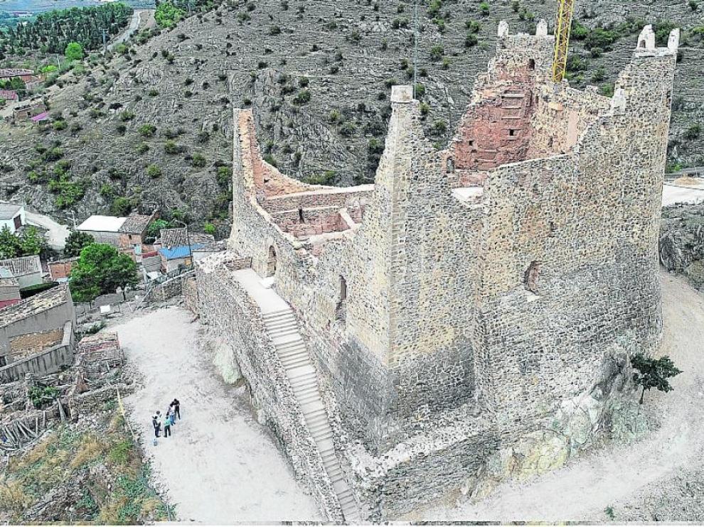El castillo de Jarque de Moncayo fue rehabilitado entre 2017 y 2019.