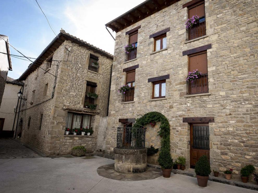 Vista del pueblo de Bailo (Huesca).