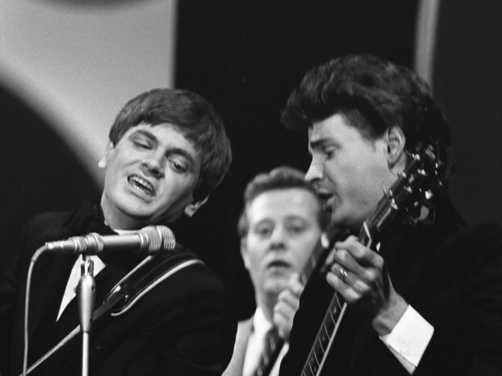 Everly Brothers en una actuación de 1965.
