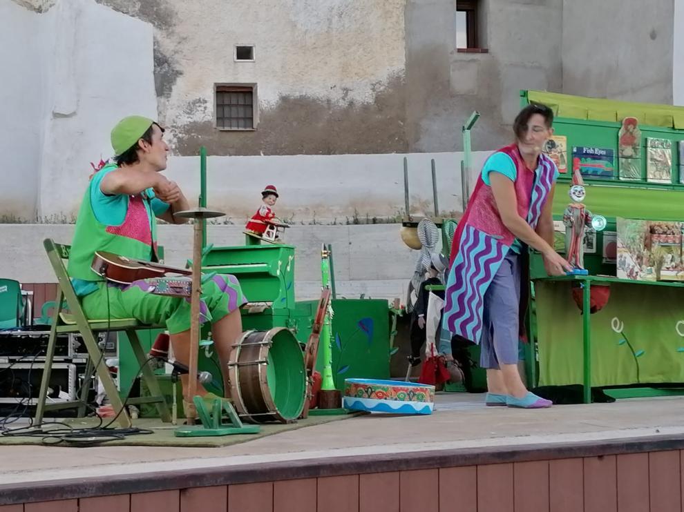 Imagen de archivo de una actuación del año pasado en las fiestas de San Bartolomé.