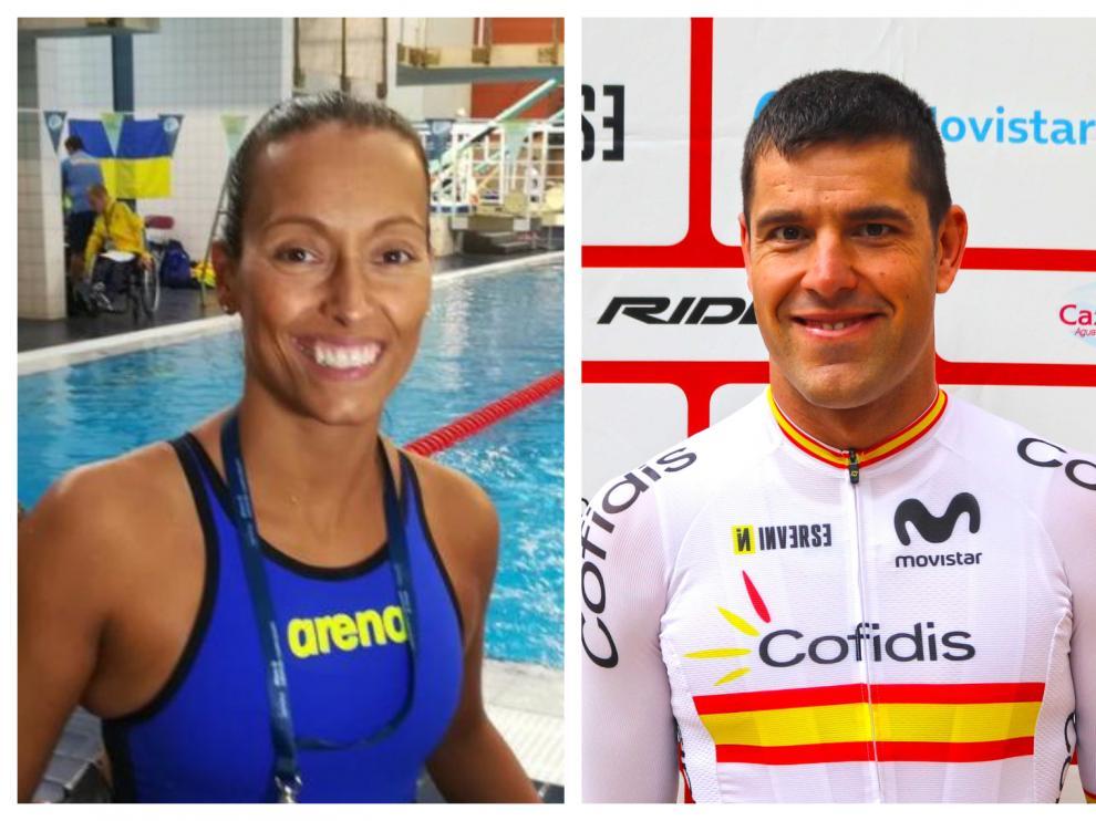 Los aragoneses Teresa Perales y Eduardo Santas.