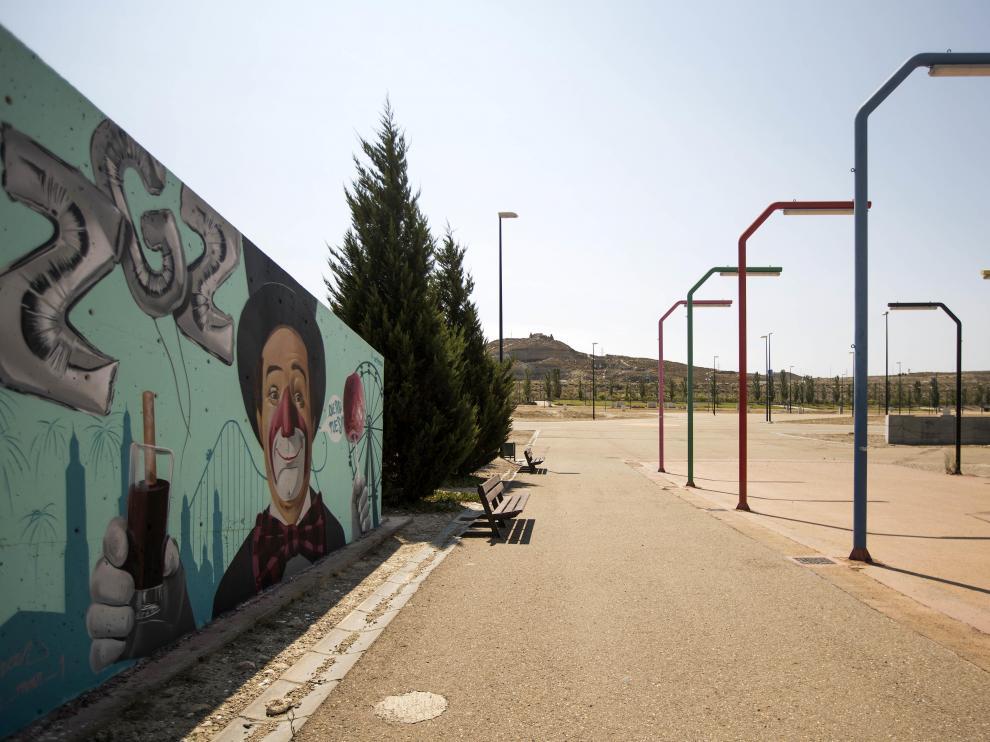 Acceso principal al recinto ferial de Valdespartera