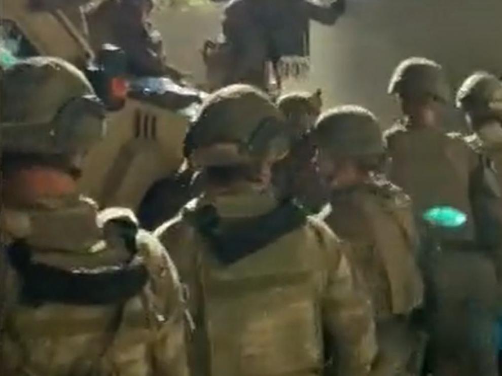 Soldados españoles en Kabul.