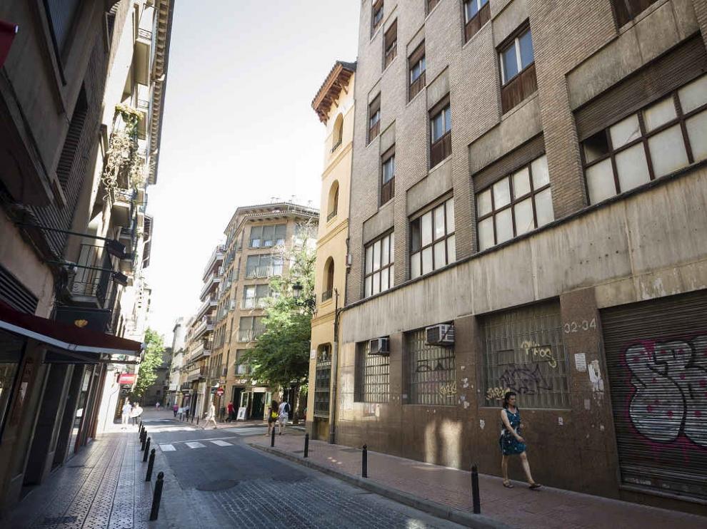 Vista de la calle San Miguel de Zaragoza.
