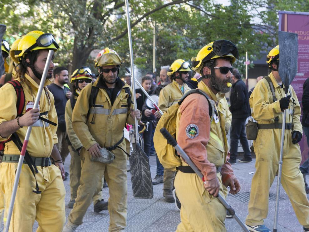Imagen de archivo de una protesta de trabajadores de Sarga en 2019.