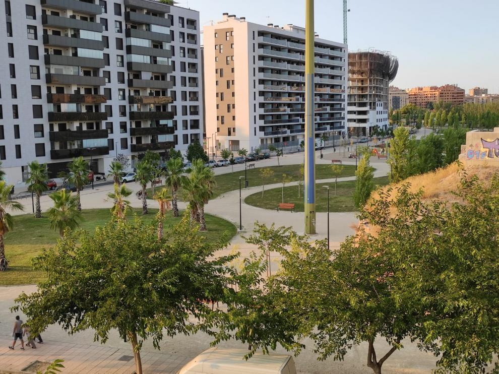 Parque en Barrio Jesús que está en proceso de cambio de nombre.
