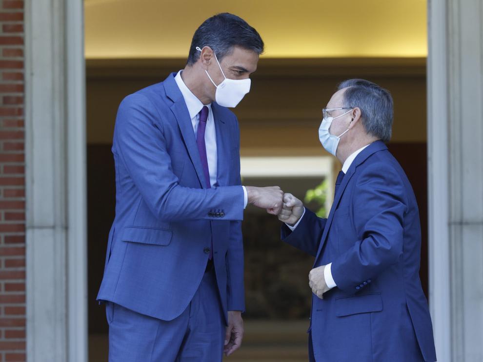 Pedro Sánchez y el presidente de Ceuta