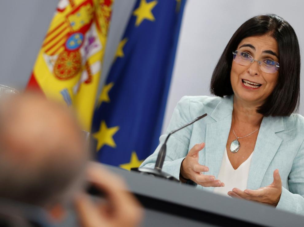 Rueda de prensa de la titular de Sanidad, Carolina Darías