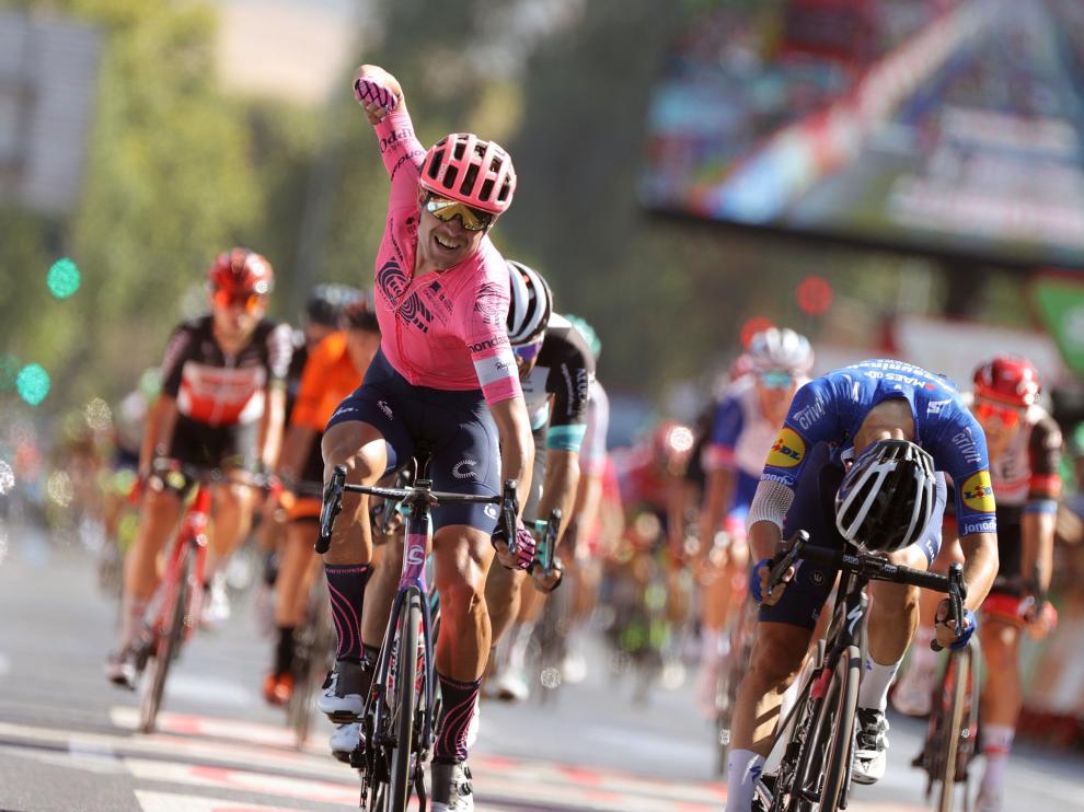 El danés Magnus Cort Nielsen, vencedor de la duodécima etapa de la Vuelta