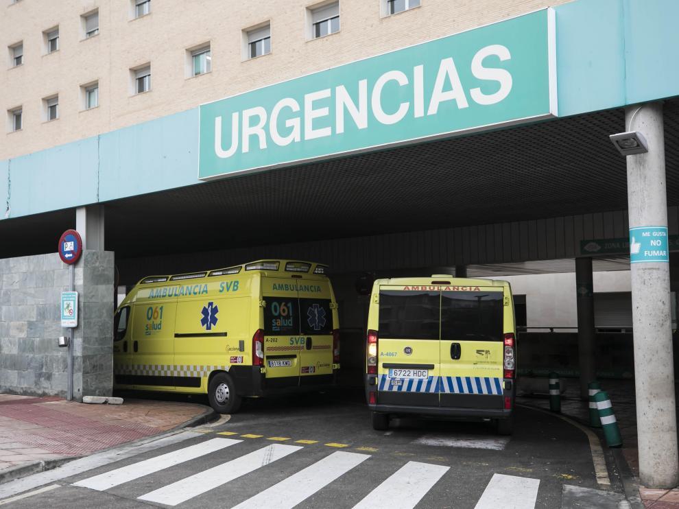 Entrada del servicio de Urgencias del hospital Miguel Servet