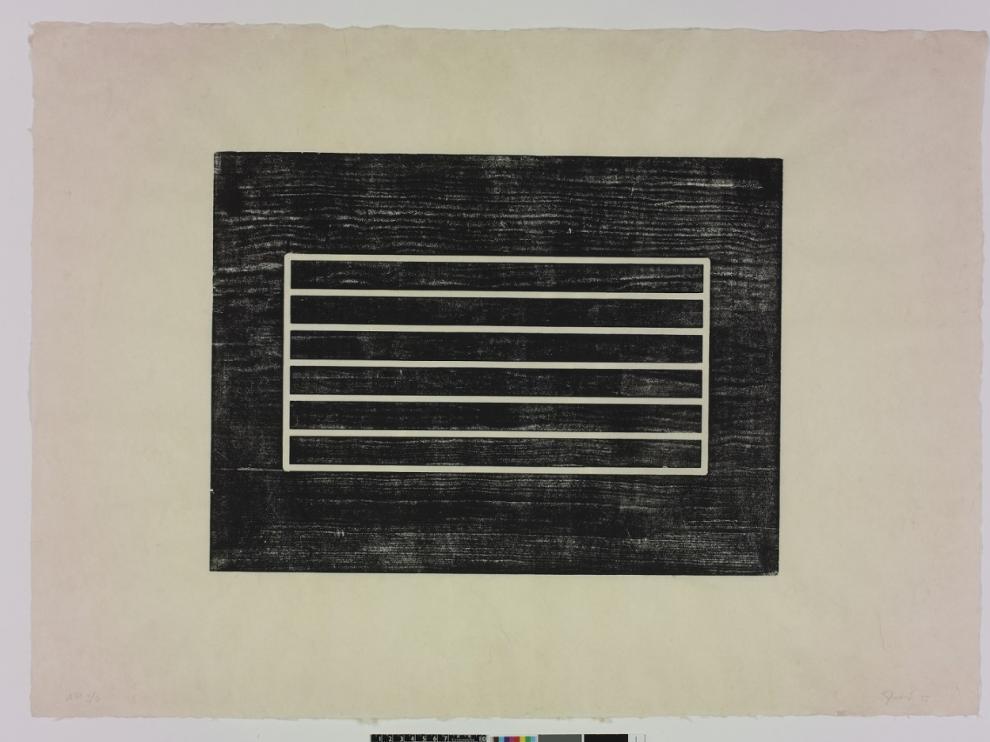 Donald Judd. 'Sin título', 1961-1975. Xilografía sobre papel oriental crema.