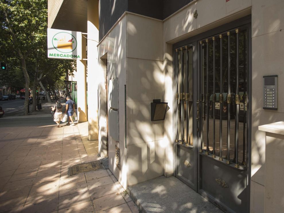 La gestoría en la que presuntamente se urdió la trama se encontraba en la calle Sobrarbe, 4.