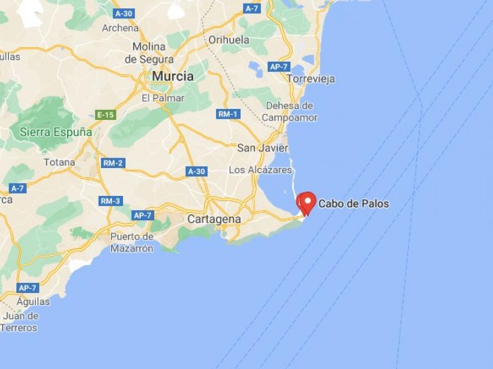 El suceso tuvo lugar a 50 millas en Cartagena.