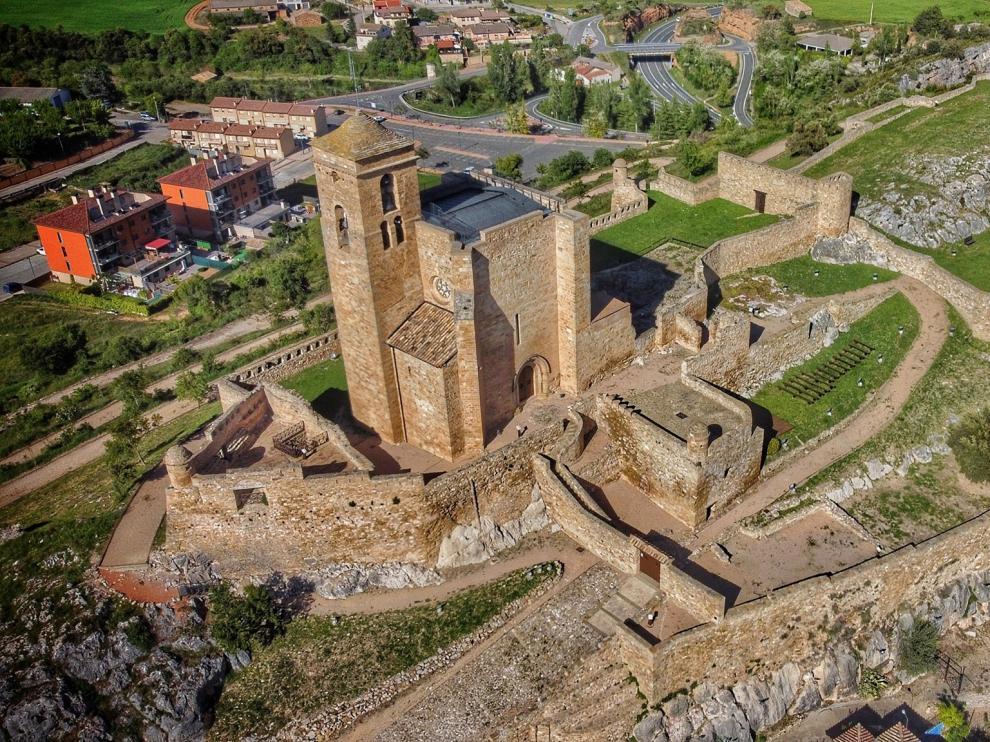 Vista aérea del castillo de Benabarre.