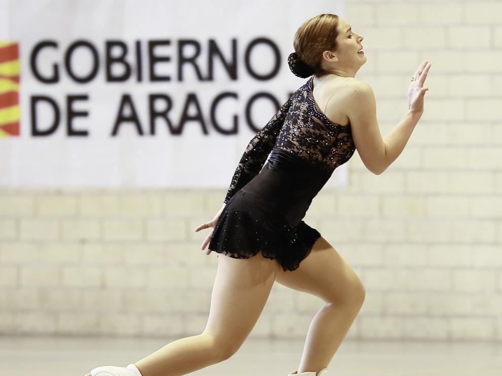 Ángela Martín-Mora, en el Campeonato de Aragón.