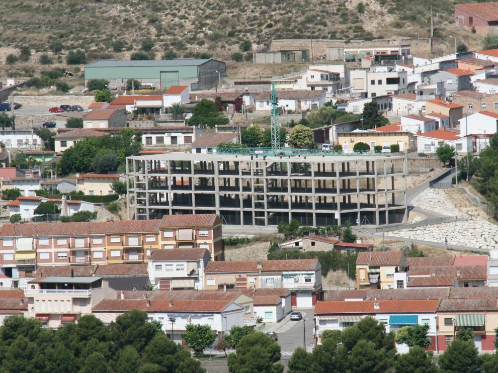 Estructura de la futura residencia de Mequinenza