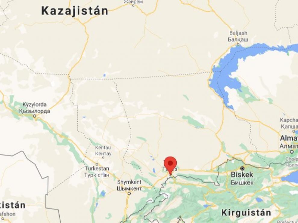 Las explosiones tuvieron lugar en un recinto millitar en Zhambyl, al sur del país.