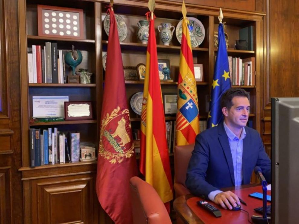 El concejal de Empresas y Autónomos, Ramón Fuertes. Ayuntamiento de Teruel.