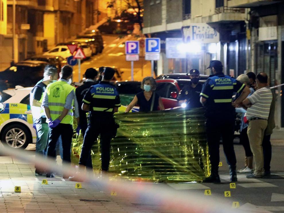 Escenario donde ha ocurrido el tiroteo en Salamanca