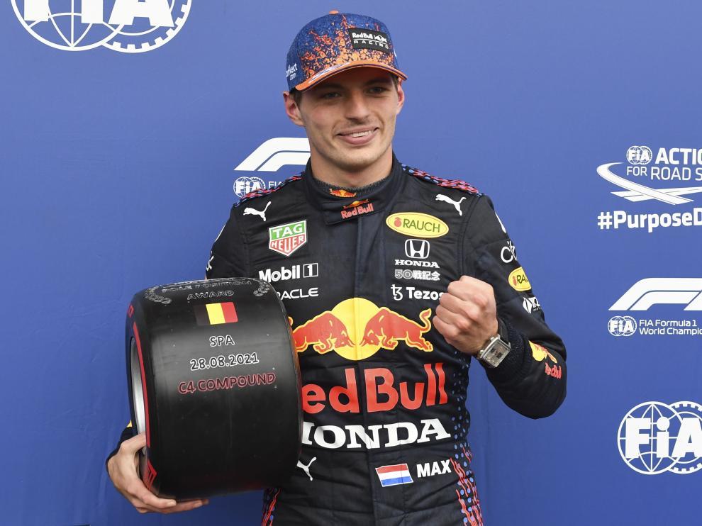 Verstappen, en el Gran Premio de Bélgica.