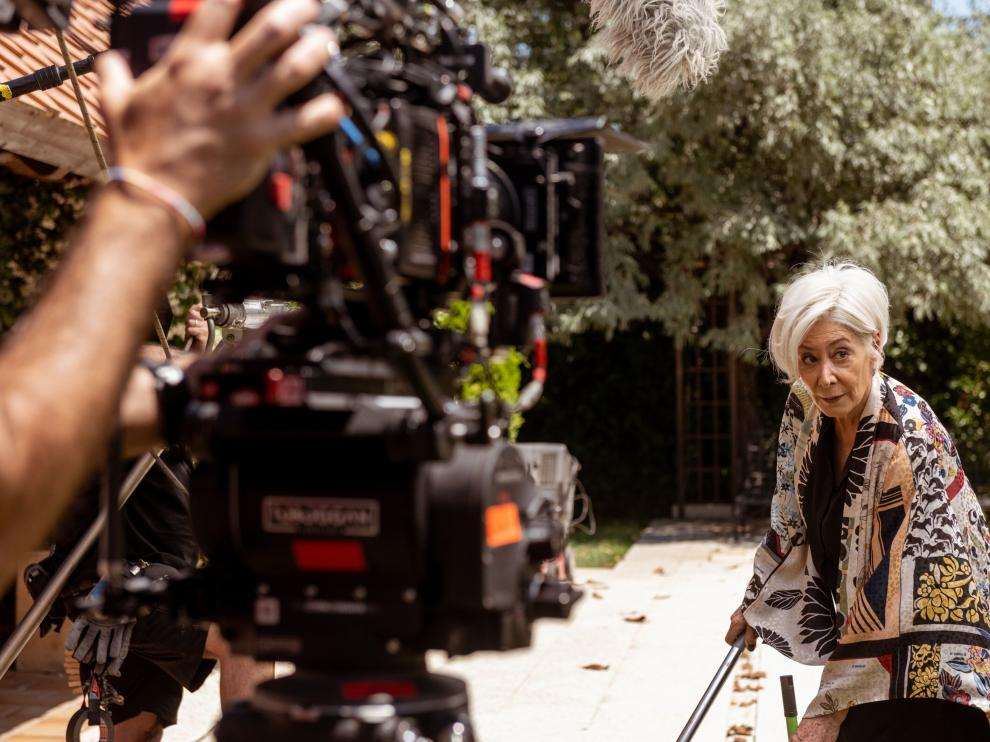 La actriz Fiorella Faltoyano durante el rodaje de 'Sentimos las molestias'