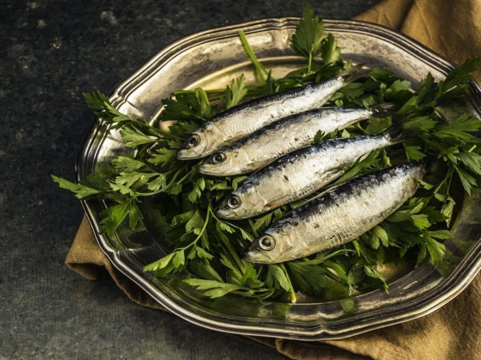 Las sardinas, alimento rico en calcio.