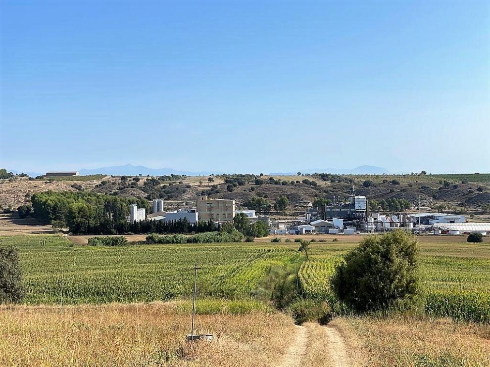 Polígono Valle del Cinca en su parte final y por donde se quiere ampliar, en la zona de Galafones.