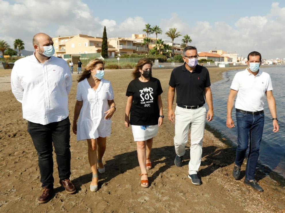 Adriana Lastra visita el Mar Menor